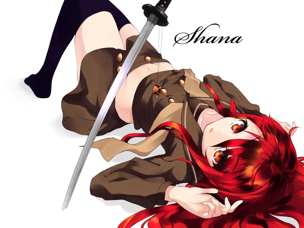 девушка с мечом shakugan_no_shana