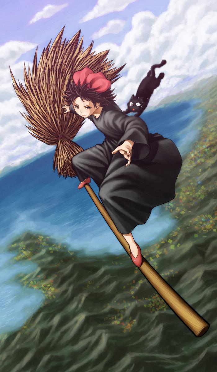 девочка ведьма kiki из аниме Ведьмина служба доставки Kiki's_Delivery_Service