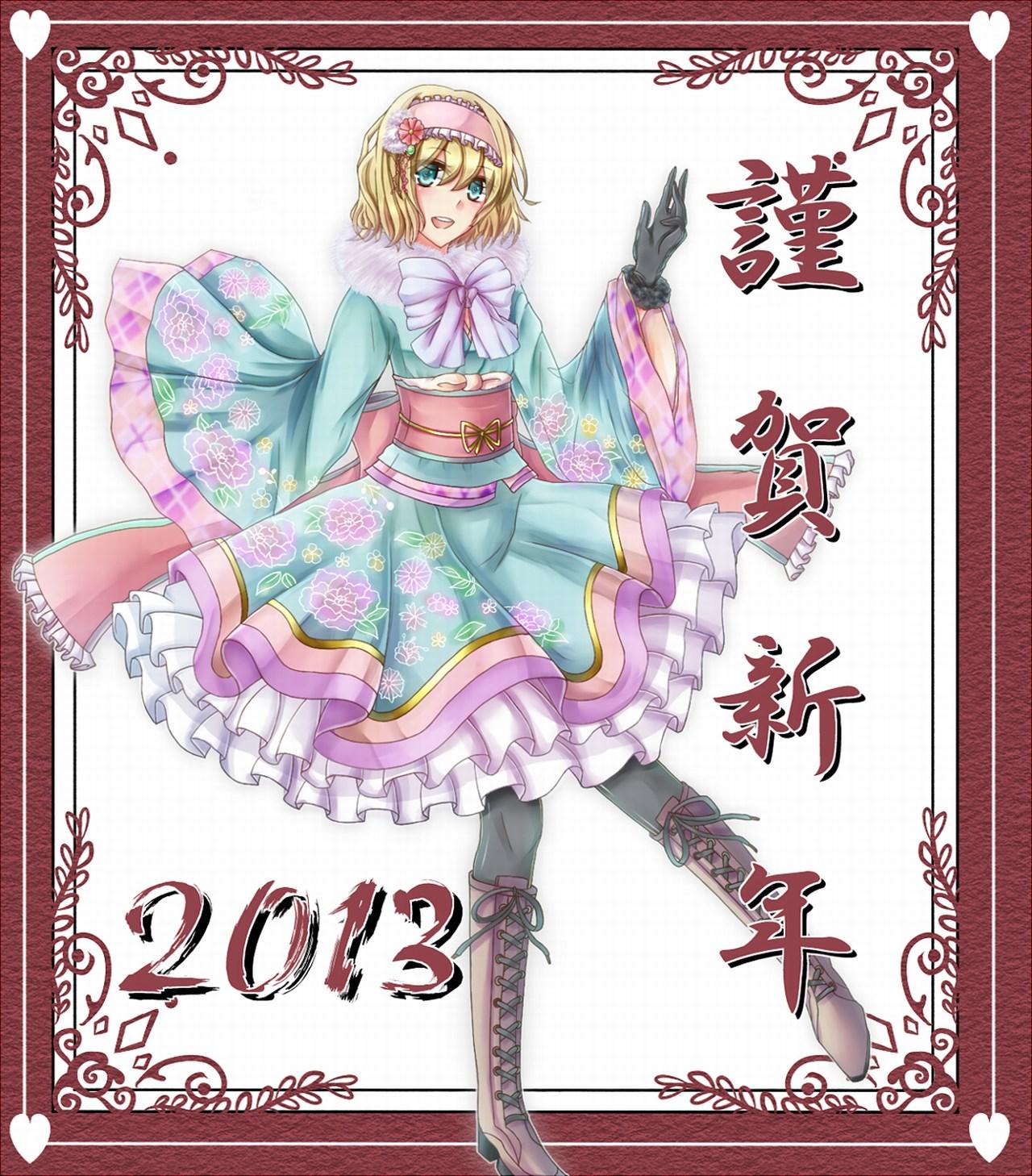 аниме девушка в платье alice_margatroid 2013