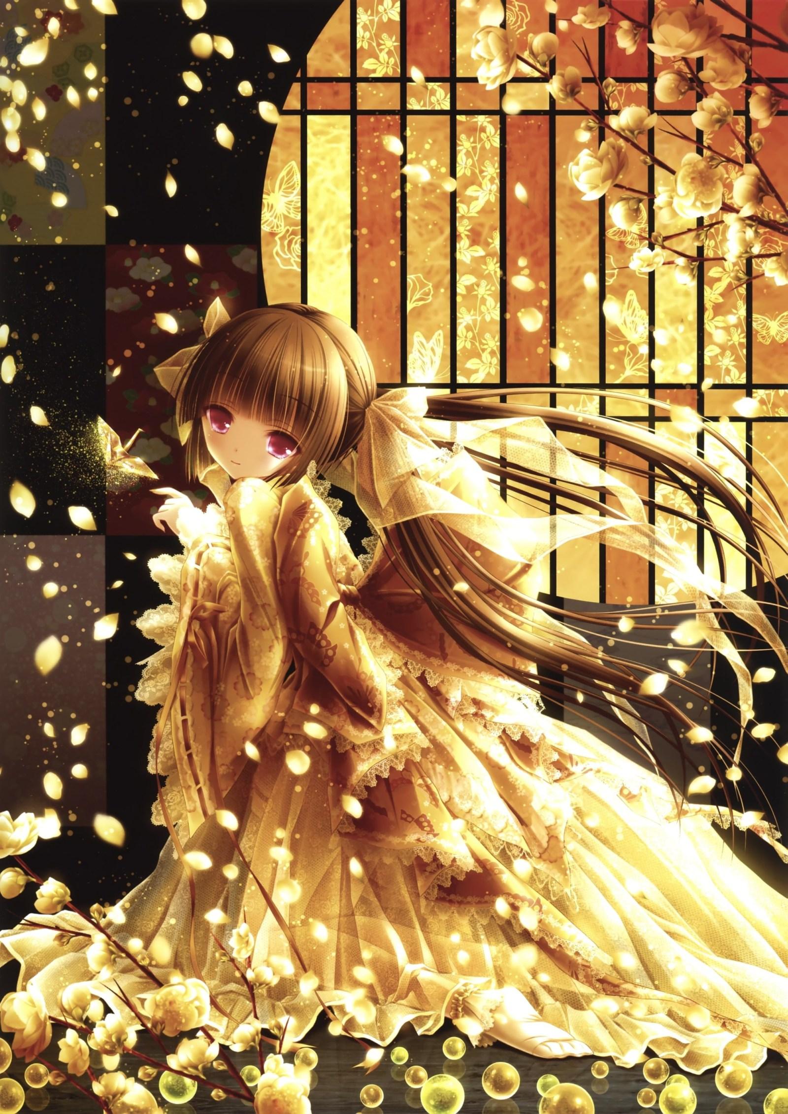 аниме девушка в платье tinker_bell