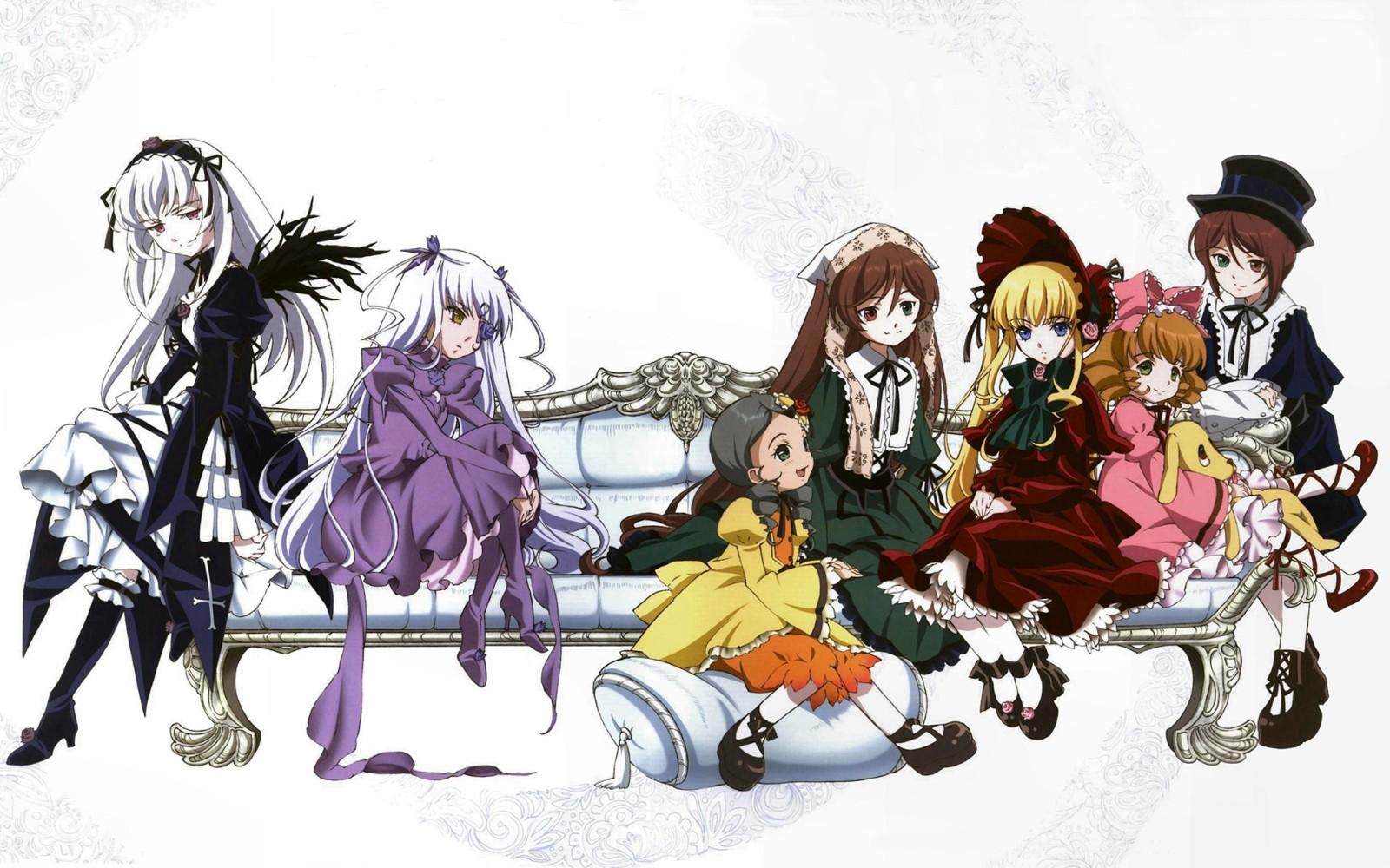 Смотреть Онлайн Девы Розена 1,2 сезон + OVA / Rozen Maiden 1,2 + OVA