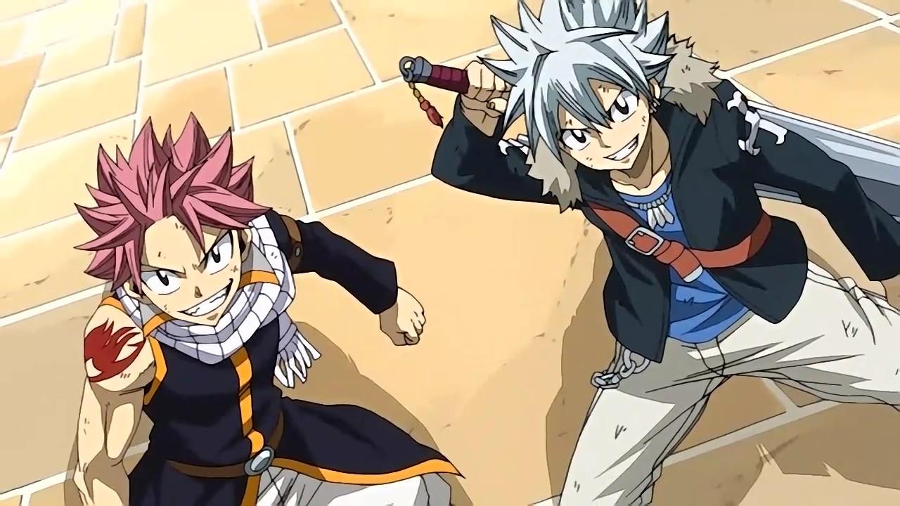Нацу и его двойник из нового эпизода Fairy Tail